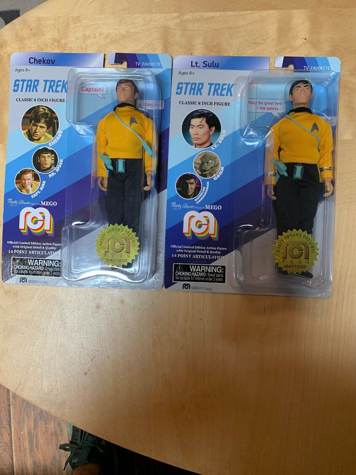 Sealed MEGO 2018 Target Exclusive Star Trek LOT CHEKOV SULU Classic 8 Figure Lot