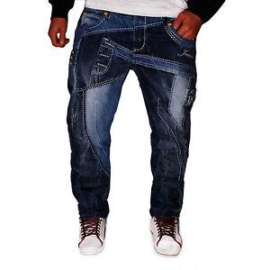 Clubwear Neuf Cargo Lupo Délavé Culotte Jeans Designer Bleu Homme Style Kosmo xHCUq78