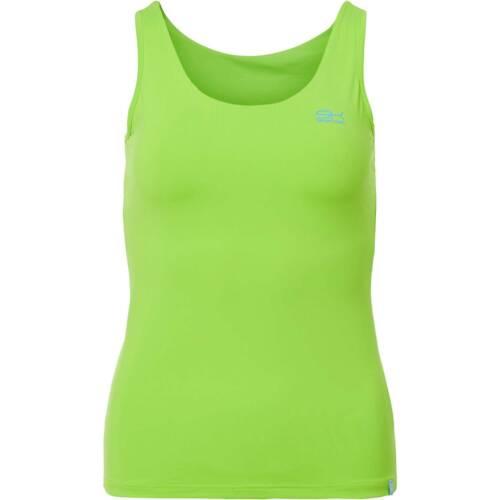 neon grün Sportkind Tennis Tanktop