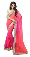 Indian Bollywood 2D SAREE Designer Party Wedding Wear Ethnic Fancy Saree
