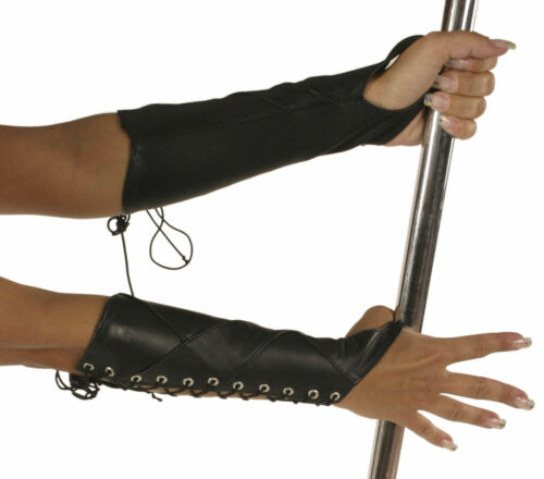a allacciatura braccio 5522 Guanti pelle Black maniche in grS con Ledapol 0mO8wvNn