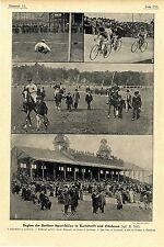 Beginn Berliner Sportsaison in Karlshorst u.Friedenau Radrennen Pferderennen1901
