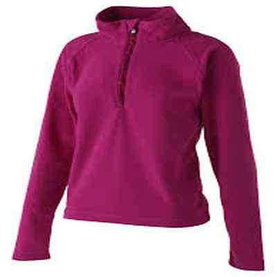Nachdenklich Ladies Surfanic Half Zip Fleece Thermal Top Black Or Pink 10 12 14 16 New Verkaufspreis