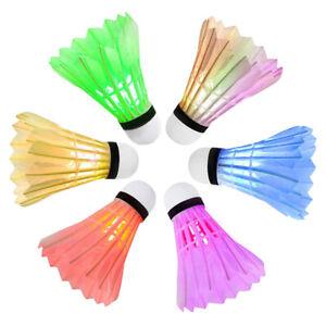 6er-Set-LED-Federball-Badmintonball-leuchtend-Leuchteball-Spiel-Bunt-Kreativitaet