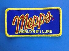 Vintage 1980's Mepps Fishing Lures Tackle Sew On Hat Jacket Patch Crest B