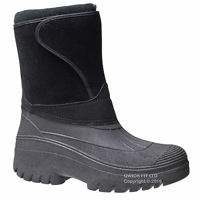 GROUNDWORK MENS SNOW THINSULATED MUCKER NEW WELLINGTONS SKI THERMAL BOOTS SIZES