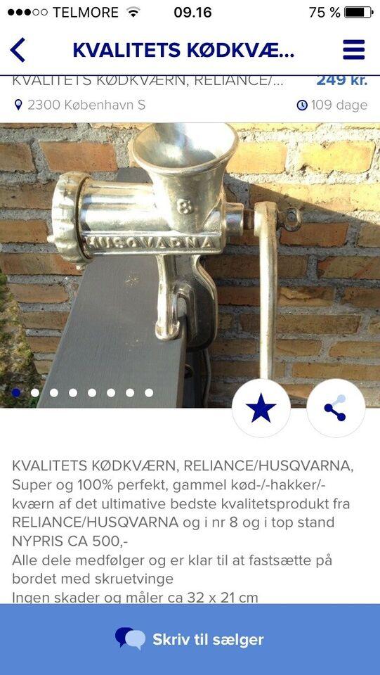 Fed gammel Husqvarna kødhakker, HUSQVARNA