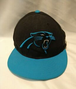 Carolina Panthers NFL New Era 59fifty fitted cap/hat size 7 ships in a box