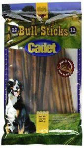 Cadet Gourmet Bull Sticks 12 Pack 12 INCH BULLY Grain & Gluten FREE Brand New