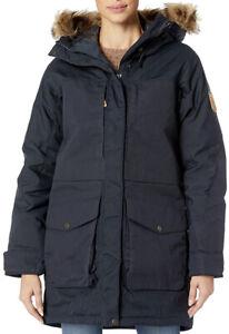 NWT Fjallraven Women's Barents Parka JACKET Navy Size S