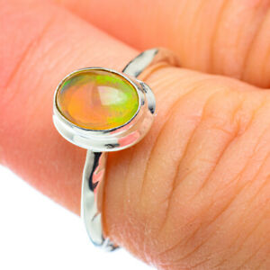 Ethiopian Opal 925 Sterling Silver Ring Size 5.25 Ana Co Jewelry R50343F