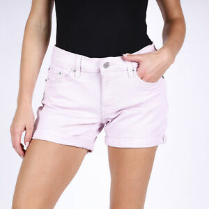 Levi-039-s-Mid-Length-stretch-Damen-Rosa-shorts-DE-36-US-W28