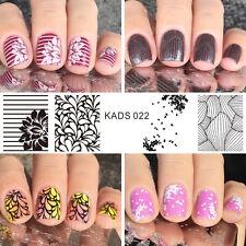 KADS Nail Art Stamp Stamping Plate Flower Series Nail Template Print Tool
