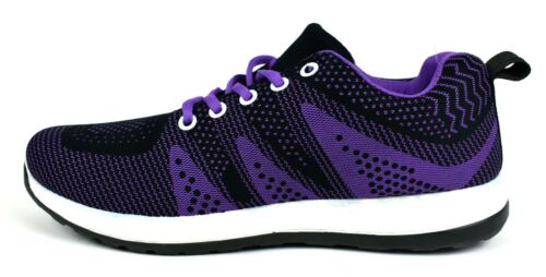 Ladies New Comfort Hiking Trainer Shoe-Casual Lace Up Rounded Toe Running Shoe