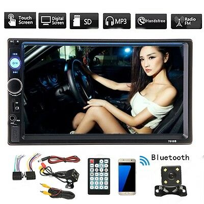 Winksoar 7'' 2 Din Car Bluetooth Stereo Radio MP5 TFT Touch Screen Player Camera