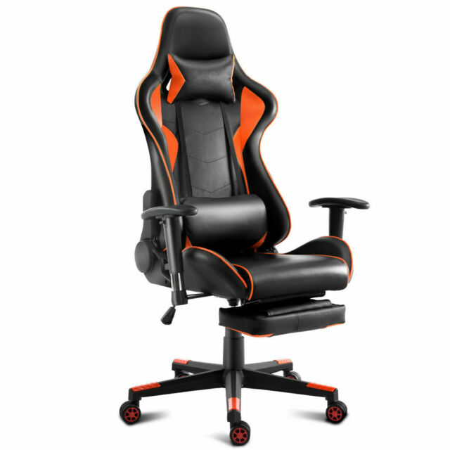 Astonishing Gaming Chair High Back Racing Recliner Office Chair W Lumbar Support Footrest Machost Co Dining Chair Design Ideas Machostcouk