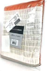 """72/"""" x 72/"""" Luxury Blue Brown /& Taupe Pintuck Striped Fabric Shower Curtain"""