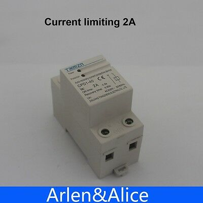 2A 230V Din rail automatic recovery reconnect Current limiting Circuit breaker