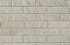 BRICK SLIPS CLADDING WALL TILES FLEXIBLE - 4 Sqm ( m2 ) - WHITE BRICK
