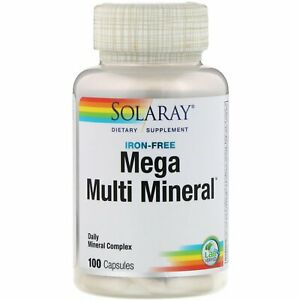 Solaray-Mega-Multi-Mineral-Iron-Free-100-Capsules