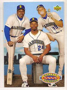 7fe150a59a 1993 Upper Deck Jay Buhner Kevin Mitchell Ken Griffey Jr Seattle ...