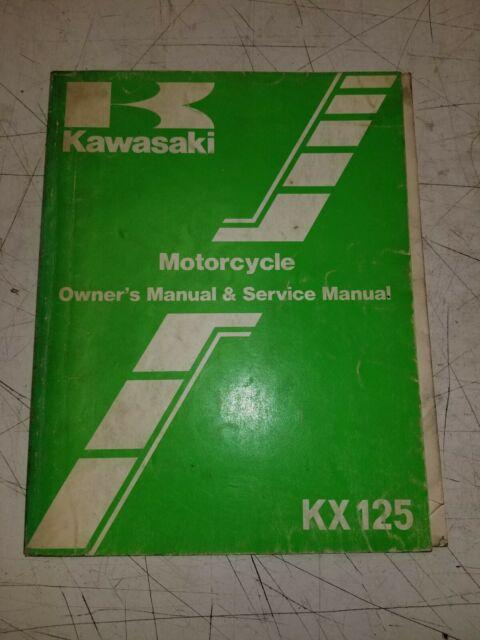 Kawasaki Kx125 E1 Factory Repair Service Manual 99920