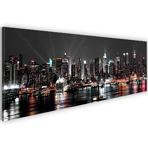 leinwand bilder bild 601912a kunstdruck new york skyline landschaft deko 1tlg ebay. Black Bedroom Furniture Sets. Home Design Ideas