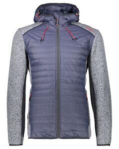cmp fleecejacke, Cmp Fix Hood Hybrid Fleece Melange Jacket