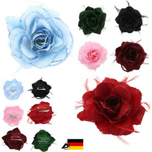Clothing, Shoes & Accessories Friendly 3 In 1 Zopfband Haargummi Blume Federn Rose Ansteckblume Brosche Blüte Haar Clip