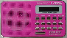 ONLITE PORTABLE FM RADIO WITH USB/SD MP3 PLAYER LED DISPLAY WITH  TORCH LSS3A-