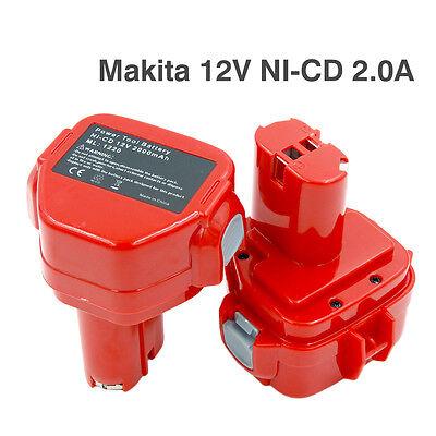 12V 3.0AH Akku für Makita 1220 1222 1233 1234 1235 1925974 1925982
