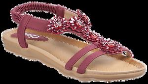 Divaz Ladies Slingback 36-41 Sandals Style Cyrus Colour Wine Sz 36-41 Slingback  New 5824e2