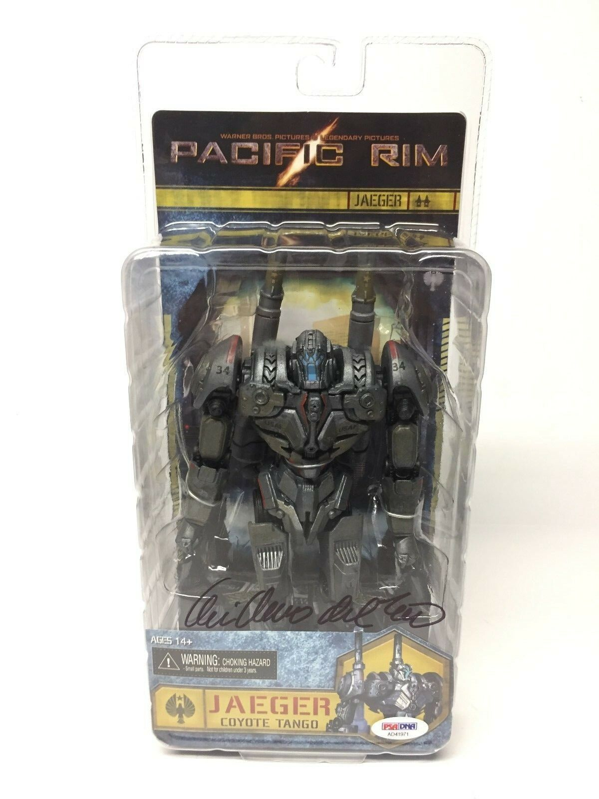 Guillermo Del Toro Signed Pacific Rim Jaeger Coyote Tango Action Figure PSA