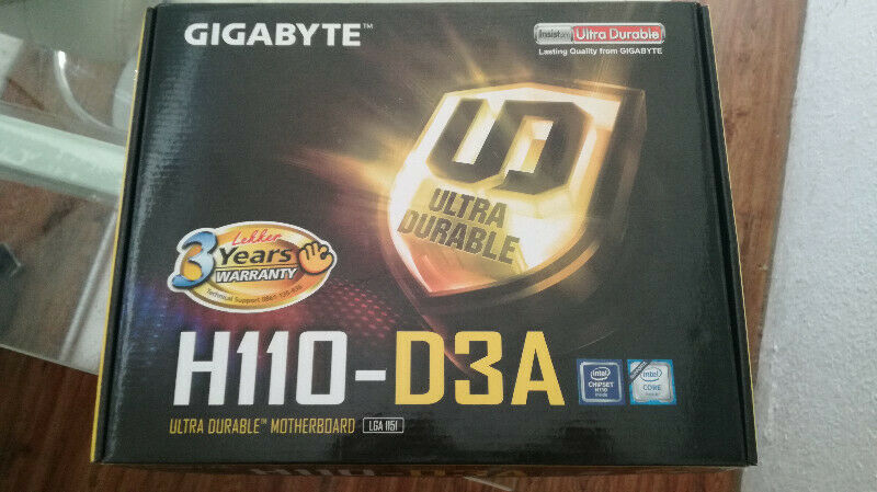 Brand new Sealed in box Gigabyte H110 – D3A Motherboards (Bulk Available) – 36 Month Warranty