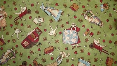 County Fair Garden Print Fabric BTY