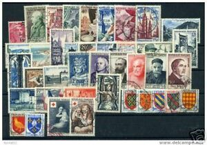 FRANCE-ANNEE-COMPLETE-1954-OBLITEREE-TB-VALEUR-260