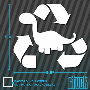 "8/"" x 2.5/"" Fueled By Recycled Dinosaurs vinyl decal sticker fossil fuel funny"