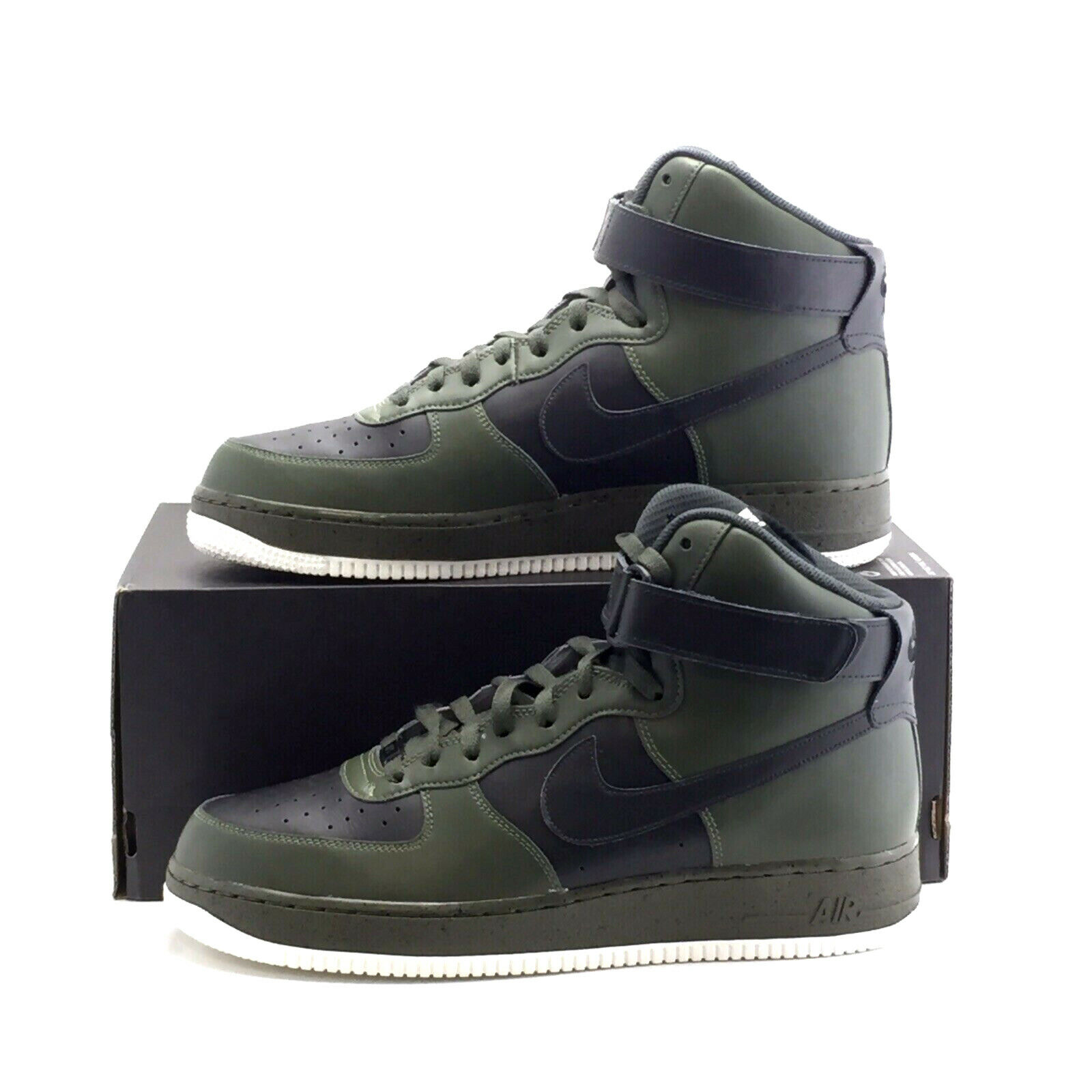 32a12c495b3a3 UK - AF1 NikeiD Leather HIGH 1 FORCE AIR NIKE 10.5 Trainers Olive ...