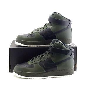 Details zu NIKE AIR FORCE 1 HIGH Trainers Leather NikeiD AF1 UK Size 10.5 (EU 45.5) Olive