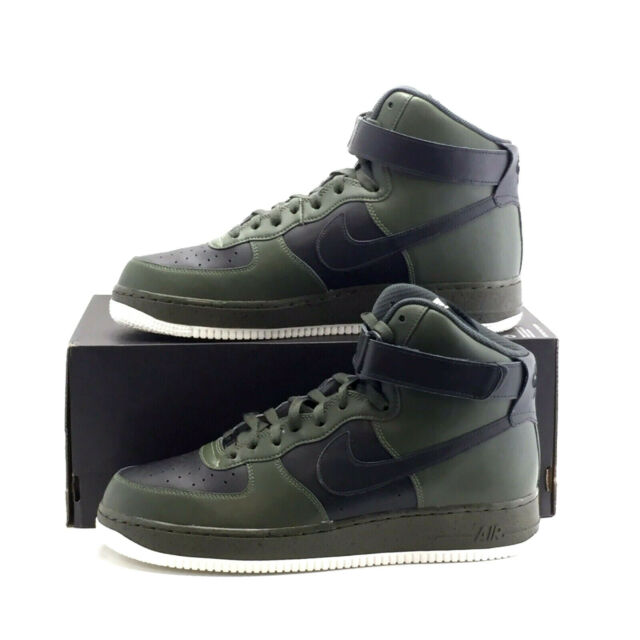 Nike Air Force 1 High Trainers Leather NikeiD Af1 UK Size 10.5 (eu 45.5) Olive