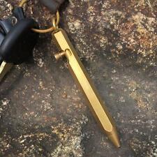 Mini Self Defense Suvival Anti-gun Brass Pure Checker Ball Pen Handy Metal Writi