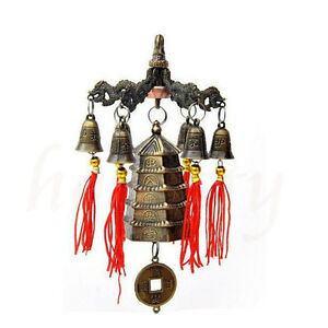 1PC-Chinese-Metal-Tower-Wind-Chime-Bells-Hanging-Lucky-Feng-Shui-Ornament
