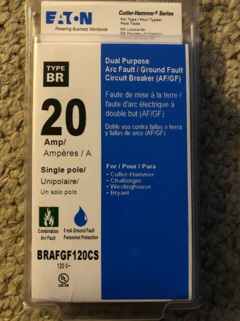 Eaton Brafgf120cs 20 Gfci Circuit Breaker For Sale Online