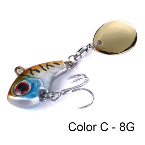 Details about  /Vibration Sequin VIB Lure Metal Fishing Bait Wobblers Crankbaits Treble Hook