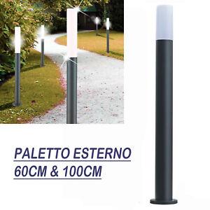 Paletti Illuminazione Esterna Led.Dettagli Su Lampada Palo Led 100cm E27 Paletto 220v Lampione Giardino Illuminazione Esterno
