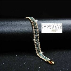 Swarovski-Genuine-Crystal-18K-Gold-plated-Bracelet-Gift-box