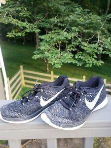 vehículo Alinear Eliminación  Nike Flyknit Lunar 3 Mujer Negro Blanco Con Cordones Zapato de correr  698182-001 Talla 7.5   eBay