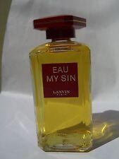 MY SIN  LANVIN   Eau de My Sin 100 ml splash no box ORIGINAL RARE VINTAGE