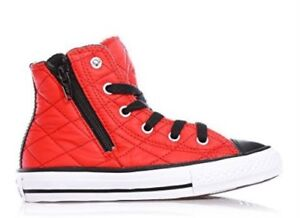 9ea94102b0e9 CONVERSE Chuck Taylor AS Side Zip Hi TESSUTO Casino Red 750680C Sz 9 ...