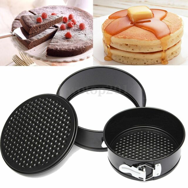 "7"" inch Non-stick Coated Round Loose Base Bottom Buckle Cake Pan Tray Bakeware"